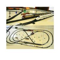 奋发儿童超长轨道电动小火车高铁动车仿真电动声光轨道火车模型玩具亲子互动礼物