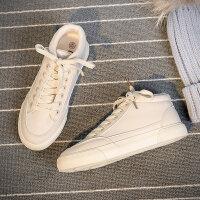 韩版女鞋子新款潮小白鞋女二棉鞋女冬季2018加绒百搭秋学生