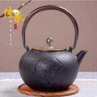 铁壶仿日本南部铸铁壶 烧水壶茶具茶壶煮茶器烧水铁壶电陶炉套装日本老铁茶壶茶具