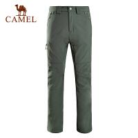 camel骆驼户外男款软壳裤 新款防风保暖徒步户外软壳裤