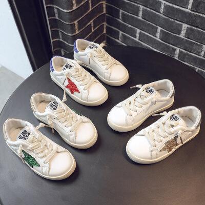 儿童百搭运动鞋女童小白鞋星星板鞋男童学生童鞋