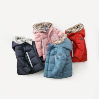 [2件3折价:258.9]davebella戴维贝拉童装冬季新款男女童宝宝90绒保暖羽绒服DB11995