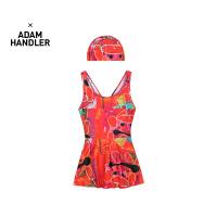 【6折价:114.72元】马拉丁童装女大童泳装春装2020年新款红色中国风图案泳衣