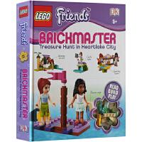 英文原版 LEGO Friends Brickmaster 乐高好朋友之心湖市大寻宝 手工DIY玩具操作书 附砖块配件