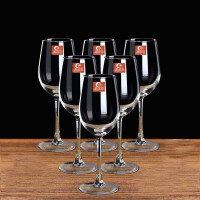 50ML红酒杯套装四只装家用醒酒器玻璃酒杯架高脚杯酒具