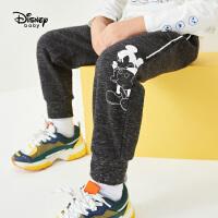 迪士尼男童针织休闲长裤2020春秋新款宝宝儿童洋气米奇童装裤子潮