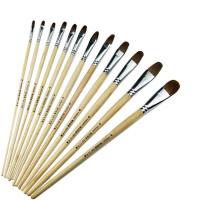 狼毫圆头软毛画笔梵高鸭舌水粉笔单支水彩油画笔套装 1号 单支小号