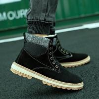 马丁靴男冬季加绒保暖高帮鞋中帮潮鞋休闲百搭男士英伦工装靴棉