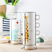个性创意办公室喝水杯茶杯子家用套装马克杯陶瓷杯简约咖啡杯家庭