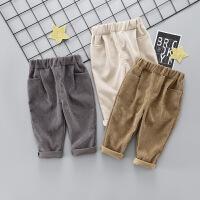 宝宝运动裤长裤宽松男童哈伦裤1-3岁女童儿童休闲裤