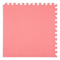 泡沫地垫地板家用卧室榻榻米客厅儿童爬行垫子拼接爬爬垫拼图地毯 红色 60x60X2.5cm树叶纹(4片)
