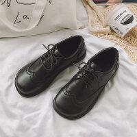 20190302012545521小皮鞋女英伦风复古森女系软底学生韩版百搭软妹黑色皮鞋