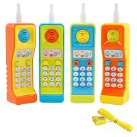 儿童手机 儿童大哥大手机玩具早教玩具电话宝宝启蒙学习数字音乐1-3岁 6161+2节5号+挂绳(颜色随机)