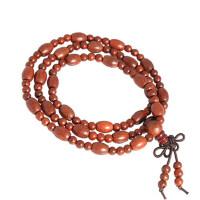 印度小叶紫檀108颗桶珠米珠手链 念珠 女士手链民族风手串