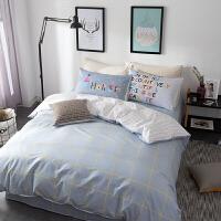 棉四件套简约床品套件1.5m1.8米床单被套宿舍1.2床笠三件套k