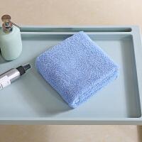 当当优品 A类阿瓦提长绒棉毛巾面巾2条装-甜蜜蓝 迷雾灰