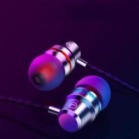 金属重低音耳机线华为OPPO VIVO手机耳机K歌入耳式耳塞通用