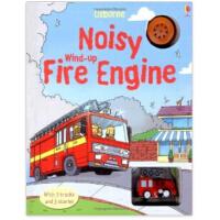 Noisy Wind-up Fire Engine发条轨道书:消防车(木板书)