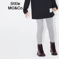 littlemoco中大童男女童装个性开衩混色毛织喇叭裤长裤KA1643PAT01 moco