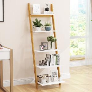 架子置物架电视墙客厅落地置物架卧室房间多层北欧书架收纳梯形