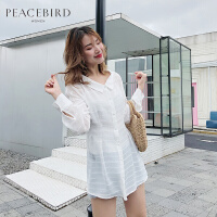 白色娃娃领衬衫女夏季2019新款少女衬衣洋气小衫心机上衣设计感女
