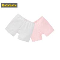 巴拉巴拉女童内裤棉平角裤儿童短裤女内穿底裤小学生安全裤两条装