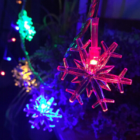 室内防水LED彩灯闪灯 串灯新年圣诞装饰雪花小彩灯婚庆摄影求婚