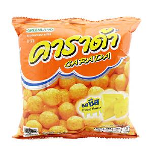 泰国进口 卡啦哒 Carada 加油啦奶酪味米球(膨化食品)15g
