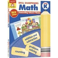Evan Moor Skill Sharpeners Math Pre K 英文原版 美国加州教材教辅 技能卷笔刀系列