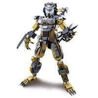 兼容乐高积木异形铁血战士外星人机器人立体模型摆件男孩子拼装儿童玩具礼物6-8-10-14岁