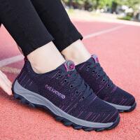 冬季布鞋女滑软底老人鞋舒适妈妈运动鞋中老年保暖棉鞋