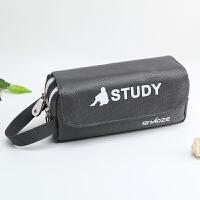 绍泽文化-青春系列笔袋(灰色)-BD-24598 当当自营