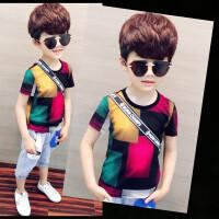 男童短袖T恤夏装儿童潮童装中大童纯棉半袖体恤男孩