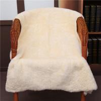 整张羊皮毛沙发垫纯羊毛毯子地毯皮毛一体坐垫床边褥子飘窗羊毛垫y