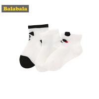 【满减参考价:16.34】巴拉巴拉宝宝袜子棉儿童棉袜夏季薄款男童可爱透气短袜婴儿三双装