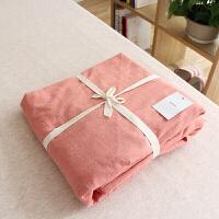 适用于日式约水洗棉床笠 良品棉色床单单件 素色裸睡床品无限家定制
