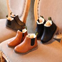 童鞋女童短靴2018秋冬季新款�和��R丁靴皮靴�窝ッ扪ツ型�靴子