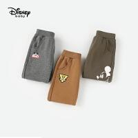 迪士尼童装男童裤子春秋装休闲裤儿童运动裤小童宝宝米奇卡通长裤