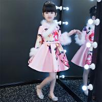 儿童礼服裙中国风女童公主裙小花童生日晚礼服演出服