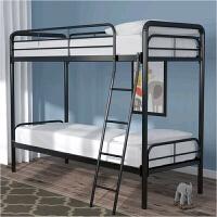上下铺铁床员工宿舍 铁艺床双人双层床高低床铁架床1米单人床