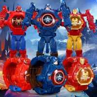 奥特曼变形电子手表超人蜘蛛侠宝宝男生女孩幼儿儿童卡通投影玩具