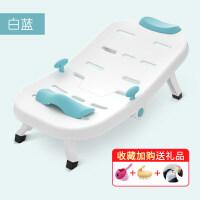 儿童洗头躺椅宝宝床可折叠洗发子小孩加大号神器家用 白蓝