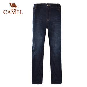 骆驼户外男款牛仔裤经典休闲日常牛仔长裤男士