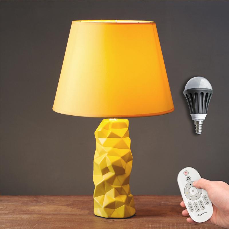 北欧式台卧灯室床头创意 陶瓷简约现代时尚可爱温馨小台灯
