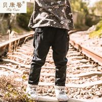 【当当自营】贝康馨童装 女童蕾丝边小脚裤 纯棉时尚休闲裤新款秋装