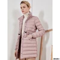 羽绒服女中长款2018新款轻薄修身鹅绒服收腰冬季外套潮韩版