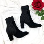 福利价 瘦瘦靴袜靴弹力靴针织毛线高跟袜子靴