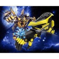 *机械手智能手机APP电动连发玩具枪加特林炮ar可发射 黄色机械手 标配+3万水弹+靶