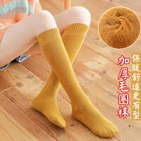 高筒袜子女潮黑色小腿袜加绒加厚秋冬棉御寒保暖韩版外穿高腰袜