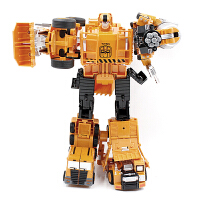 合金变形工程车玩具车 男孩礼物变形汽车人金刚机器人 五个能合体